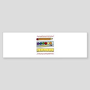 Art Supplies Bumper Sticker