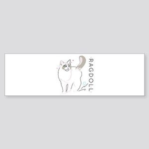 Ragdoll cat Bumper Sticker