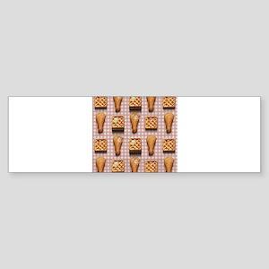 gingham chicken waffles Bumper Sticker