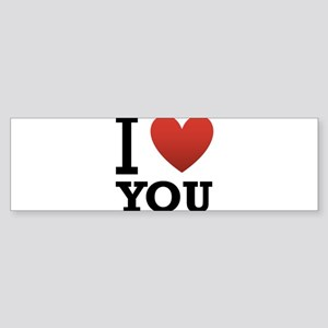 i-love-you-2 Sticker (Bumper)