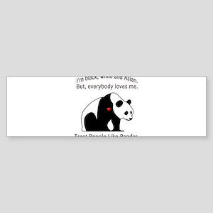 Treat People Like Pandas Sticker (Bumper)