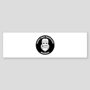 Santa Cruz Mountains Hippie Bumper Sticker