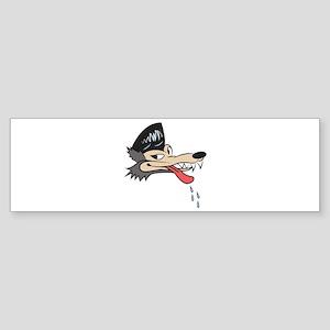 Rockabilly Wolf Bumper Sticker