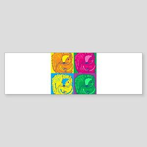 Warhol-style Squirrels Bumper Sticker