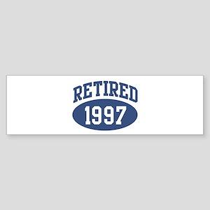 Retired 1997 (blue) Bumper Sticker