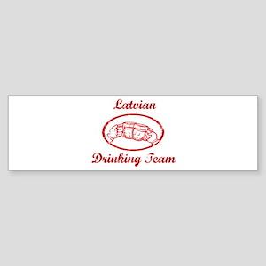 Latvian Drinking Team Bumper Sticker