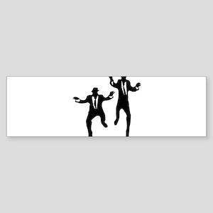 Dancing Brothers Bumper Sticker