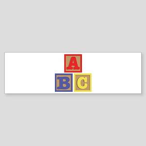 ABC Blocks Bumper Sticker