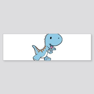 Running Baby Dino Bumper Sticker