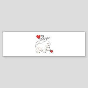 LOVE MY SAMOYED Bumper Sticker
