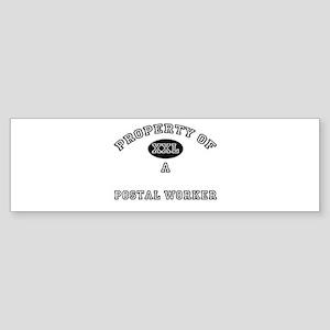 Property of a Postal Worker Bumper Sticker