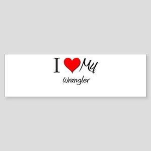 I Heart My Wrangler Bumper Sticker