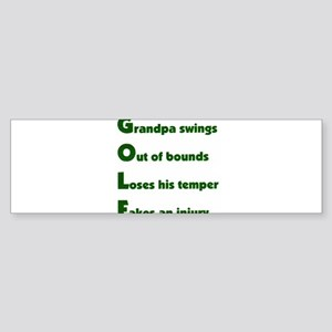 Grandpa Golf 2 Bumper Sticker