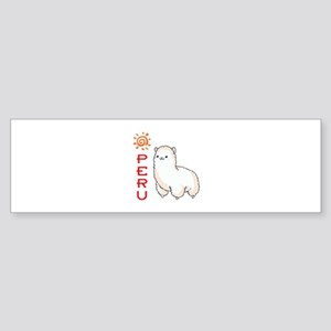 ALPACA PERU Bumper Sticker