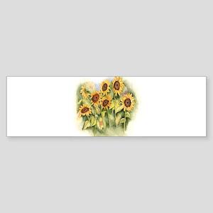 Field of Sunflower Bumper Sticker