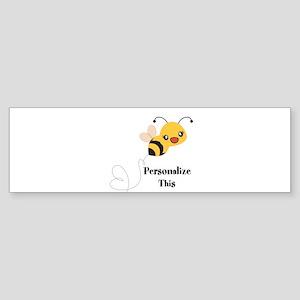 Personalized Cute Bumble Bee Bumper Sticker