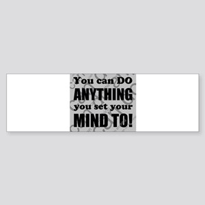 CAN DO Inspirational Saying Bumper Sticker