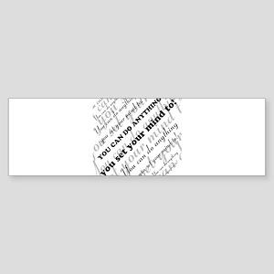 CAN DO Inspirational Text Sticker (Bumper)