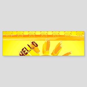 hello sunshine Bumper Sticker