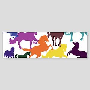 Rainbow Horses Bumper Sticker