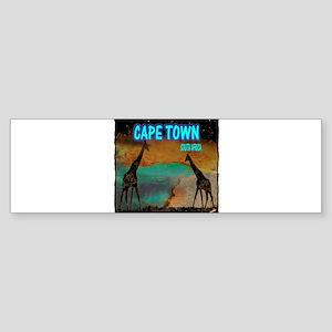 cape town africa Sticker (Bumper)