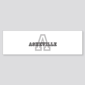 Letter A: Asheville Bumper Sticker