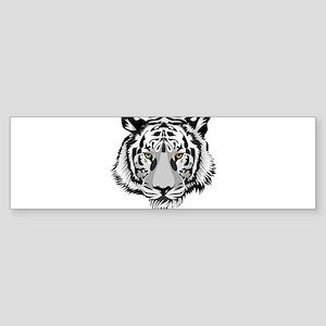 White Tiger Face Bumper Sticker