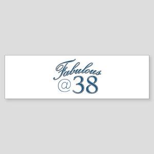 Fabulous at 38 Sticker (Bumper)