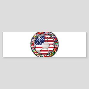 United States Flag World Cup Sticker (Bumper)
