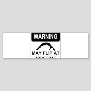 Warning may flip Sticker (Bumper)