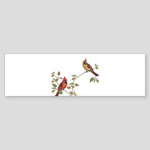 Cardinal Couple Bumper Sticker