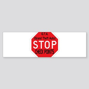 Stop The Checkpoints Sticker (Bumper)