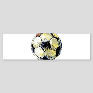 Hand Drawn Football Bumper Sticker
