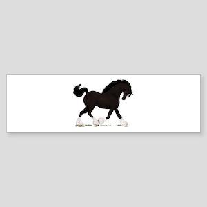 Black Shire with Blaze Bumper Sticker