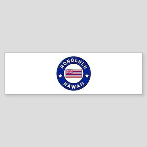 Honolulu Hawaii Bumper Sticker