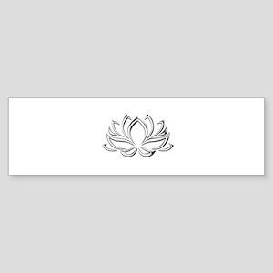 silver lotus Bumper Sticker