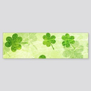 Green Shamrock Pattern Bumper Sticker