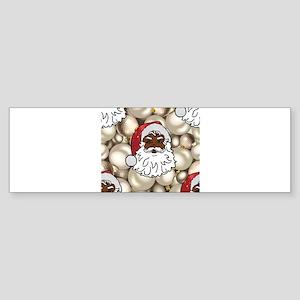 african santa claus Bumper Sticker