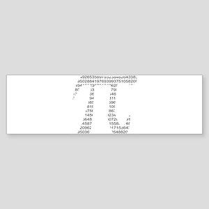Pi Bumper Sticker