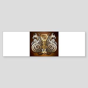 Norse Valknut Dragons Bumper Sticker