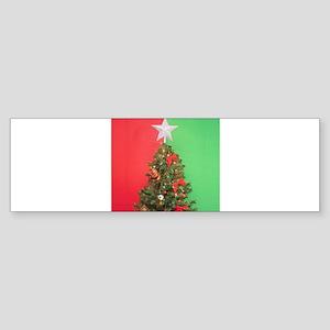 colorblock christmas tree Bumper Sticker