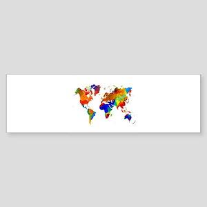 Design 33 Colorful World map Bumper Sticker