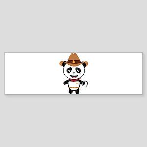Panda Cowboy with horseshoe Ctao7 Bumper Sticker
