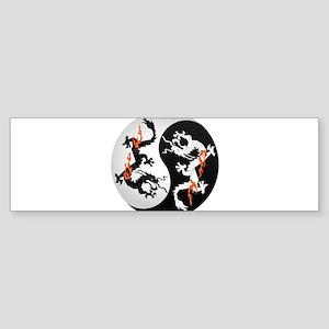 Dragon Yin Yang Chinese Dragon Arti Bumper Sticker