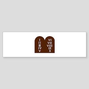 Ten Commandments Bumper Sticker
