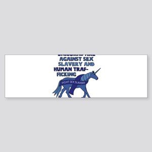 Unicorns Are Against Sex Slavery An Bumper Sticker