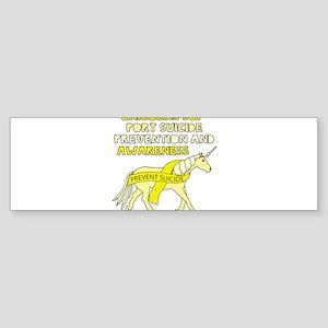 Unicorns Support Suicide Prevention Bumper Sticker