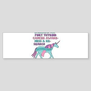 Unicorns Support Thyroid Cancer Awa Bumper Sticker
