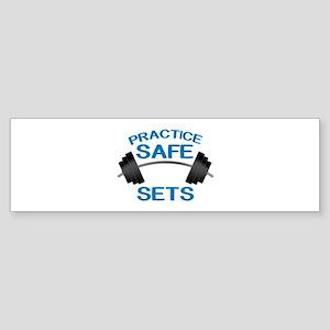 Practice Safe Sets Bumper Sticker