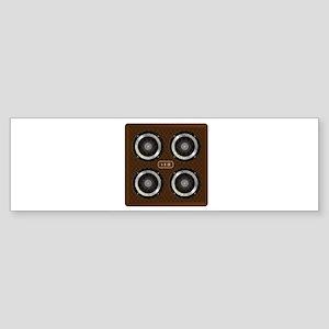 4 X 12 Guitar Amplifier Cabinet Bumper Sticker